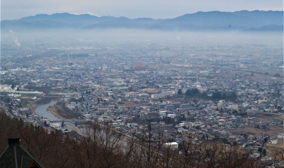 アルプス公園から見る眺望 第3回 都市デザインツアー 「山の見える眺望編」③
