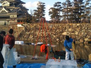2020 Matsumoto Castle Ice Sculpture Festival: Warming Up