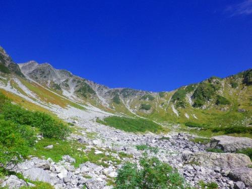 横尾本谷右俣~南岳。