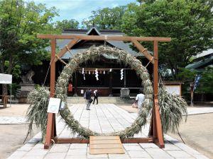梅雨の晴れ間 四柱神社 夏越の大祓 茅の輪くぐり2021