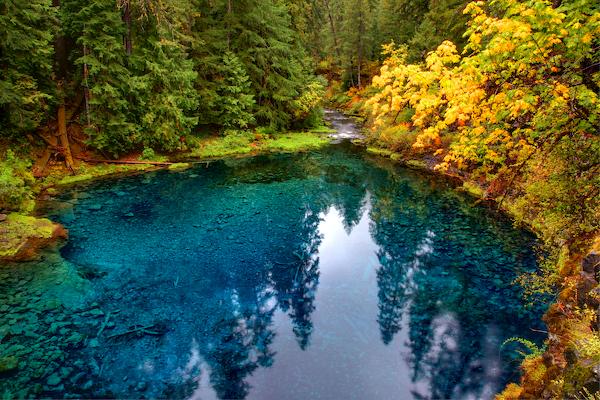 fall color - tamolitch blue pool