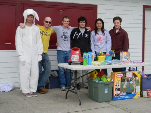 Easter Bunny and Volunteers