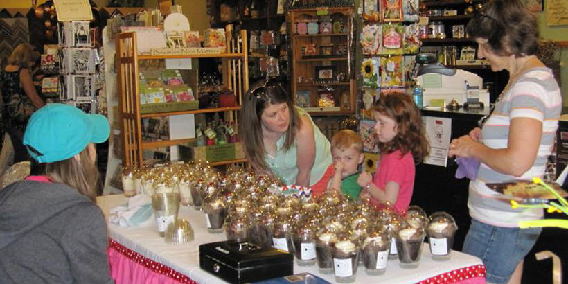 Choosing a chocolate treat at Chocolate Stroll 2015