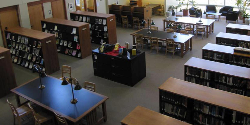 View of tables at Cole Library in Mount Vernon