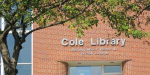 Photo of the Cole Library Entrance Mount Vernon Library