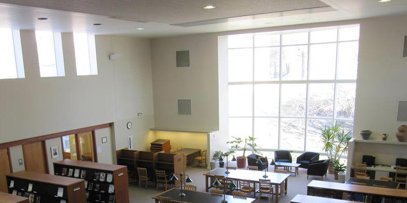 View of inside of Cole Library