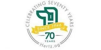 Hertz 70 Years Logo