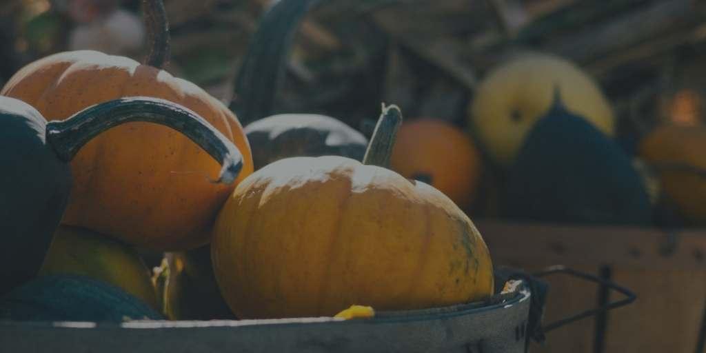 Pumpkins in baskets