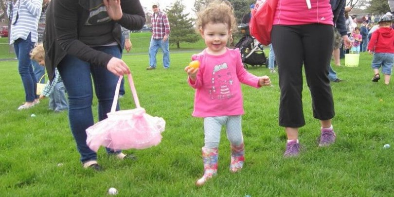 Girl Enjoying Easter Egg Dash April 2017
