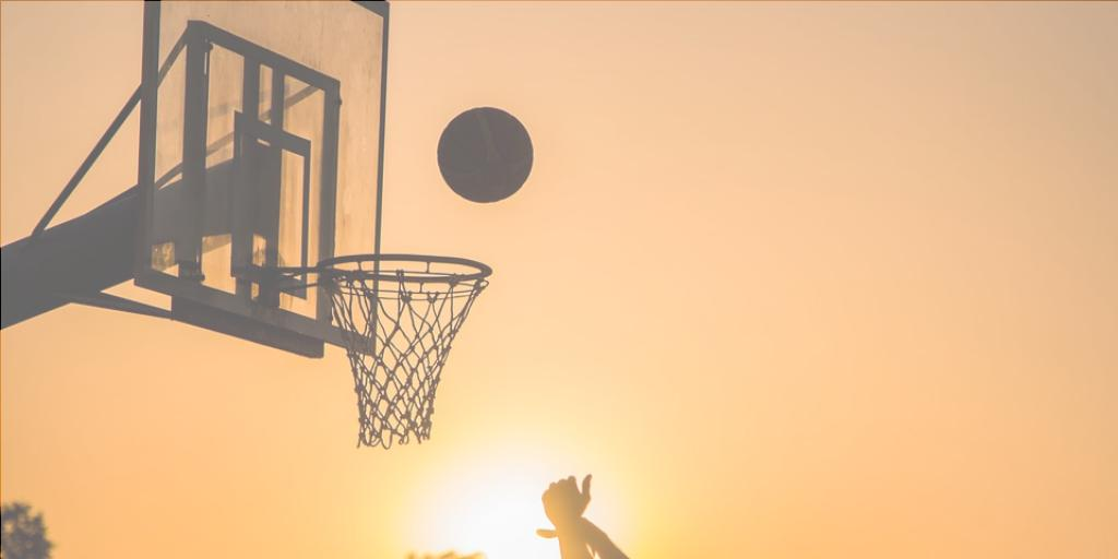 sunset basketball shot