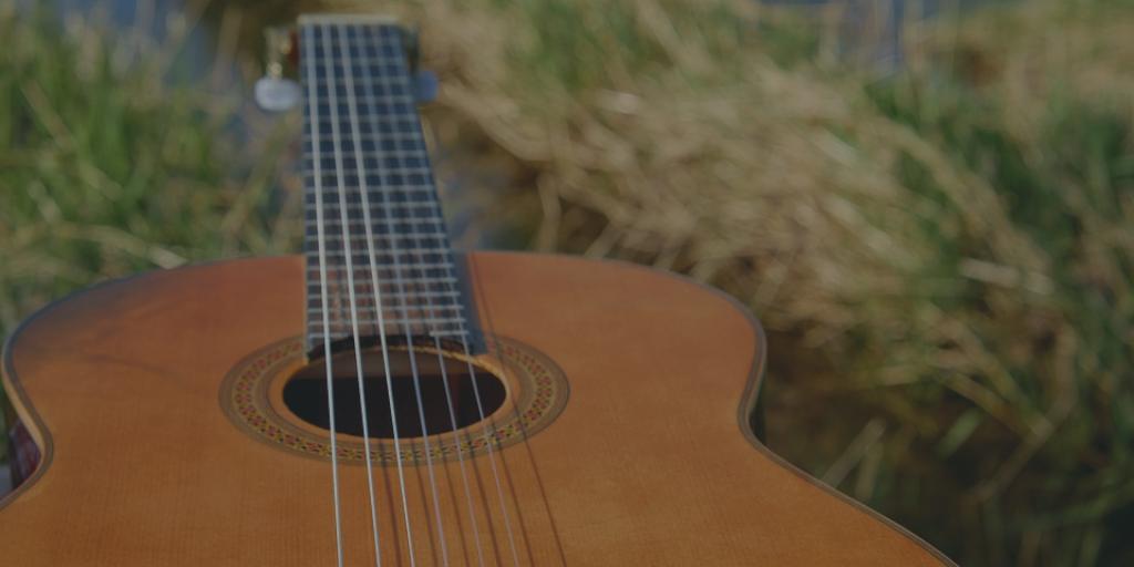 guitar on grass