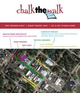 Chalk the Walk Map