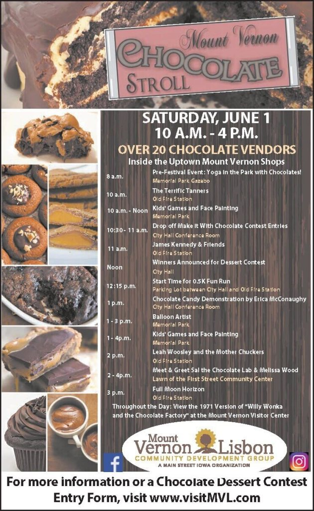Chocolate Stroll 2019 Schedule of Events