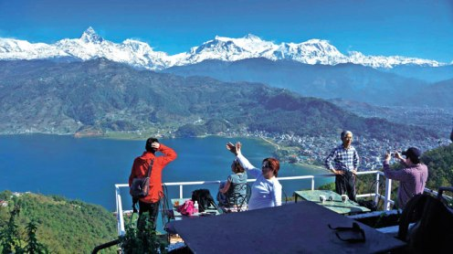 Adventurous Pokhara is famous for beautiful natural beauty where anyone can experience mountain views while flying or without flying in a parachute, meanwhile, big peaceful lake with a big city next to it.