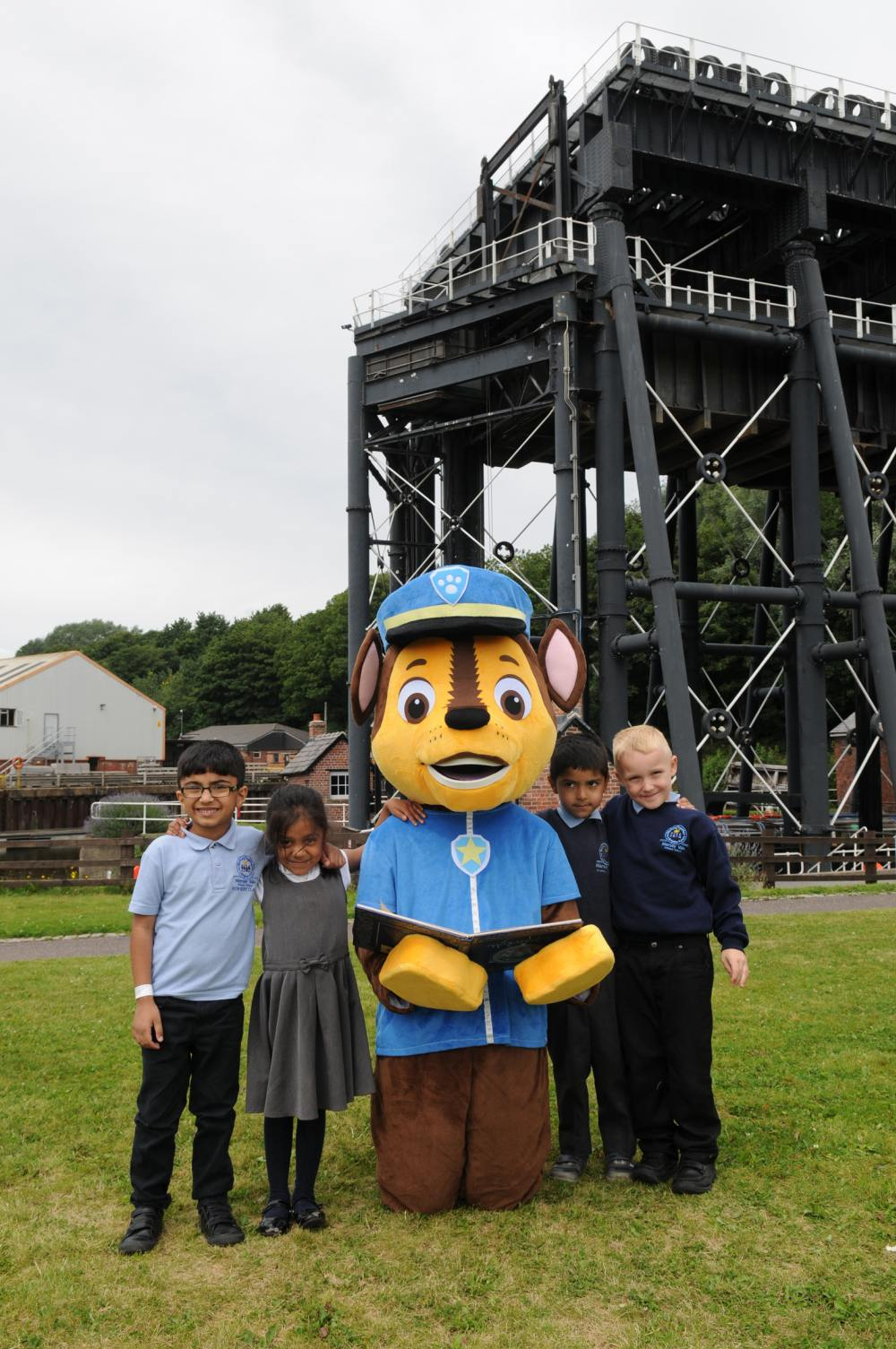 Story telling with Chase from Paw Patrol at the Anderton Boat Lift
