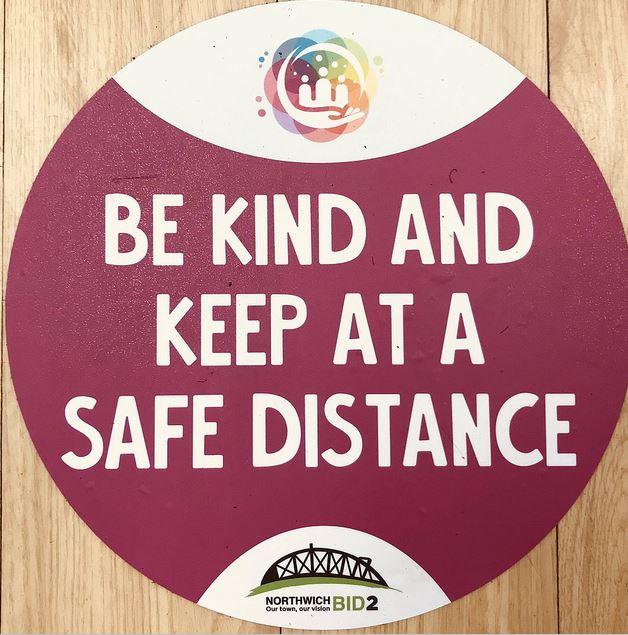Be Kind Floor Graphic