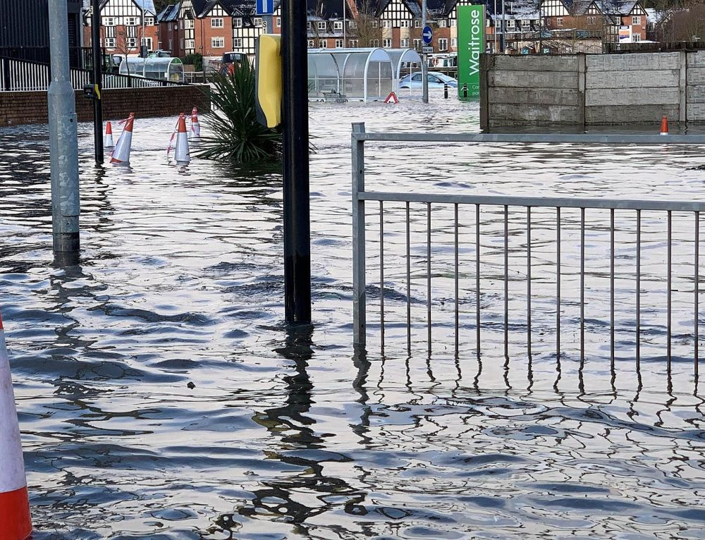 Northwich Flooding - Pic by Cheshire West