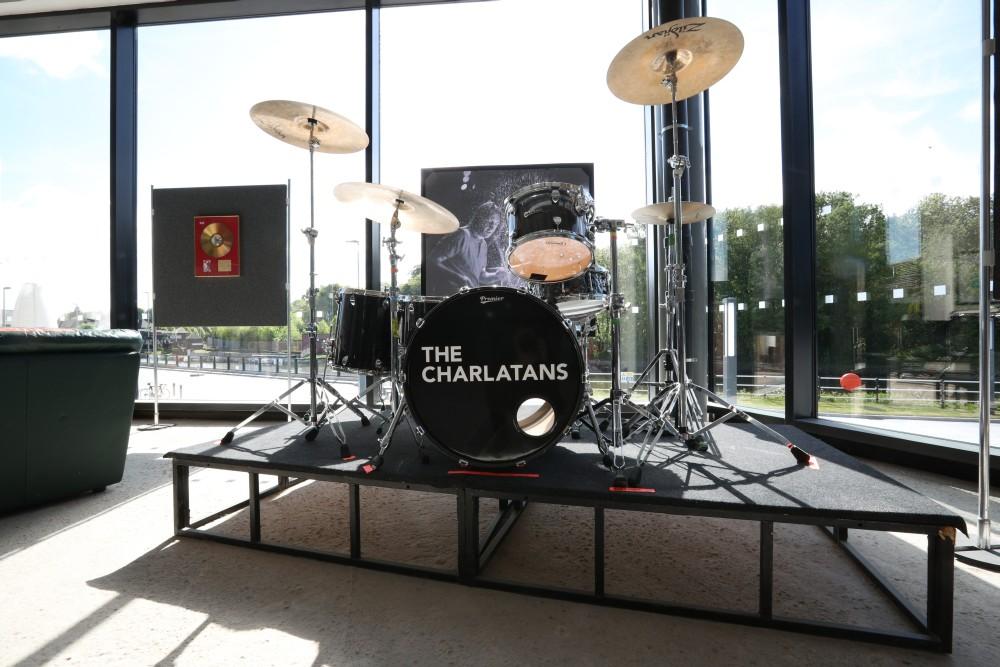 The Charlatans drum kit