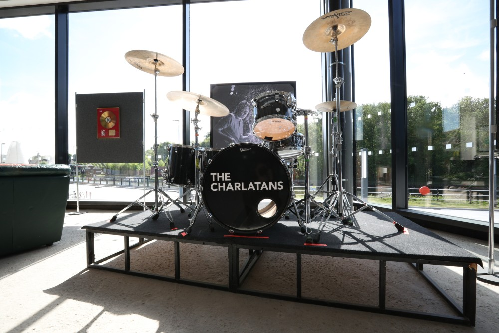 The Charlatans drum kit