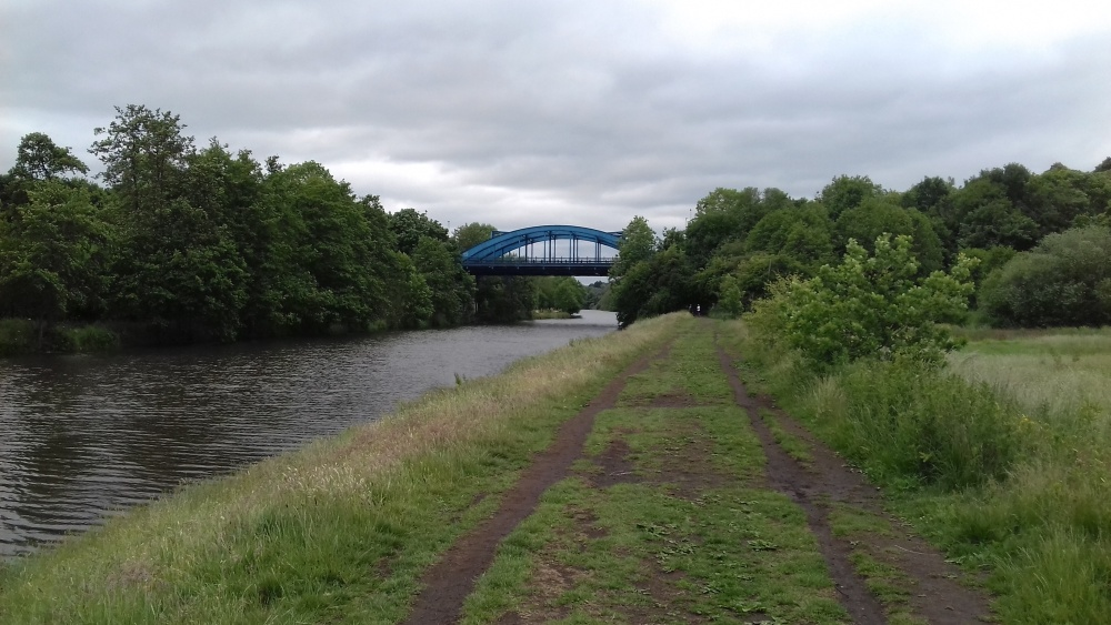View of River Weaver leading up to Hartford blue bridge