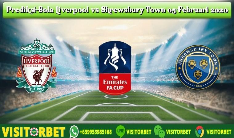 Prediksi Bola Liverpool vs Shrewsbury Town 05 Februari 2020