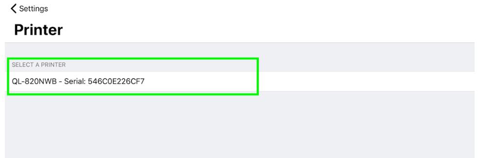 printer select settings