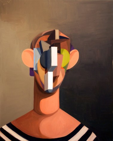 George Condo, The Young Sailor, 2012, Oil on linen, 40 x 32 inches, Courtesy of the artist and Skarstedt Gallery, New York, Estimate: $150,000-200,000. (PRNewsFoto/Elton John AIDS Foundation)