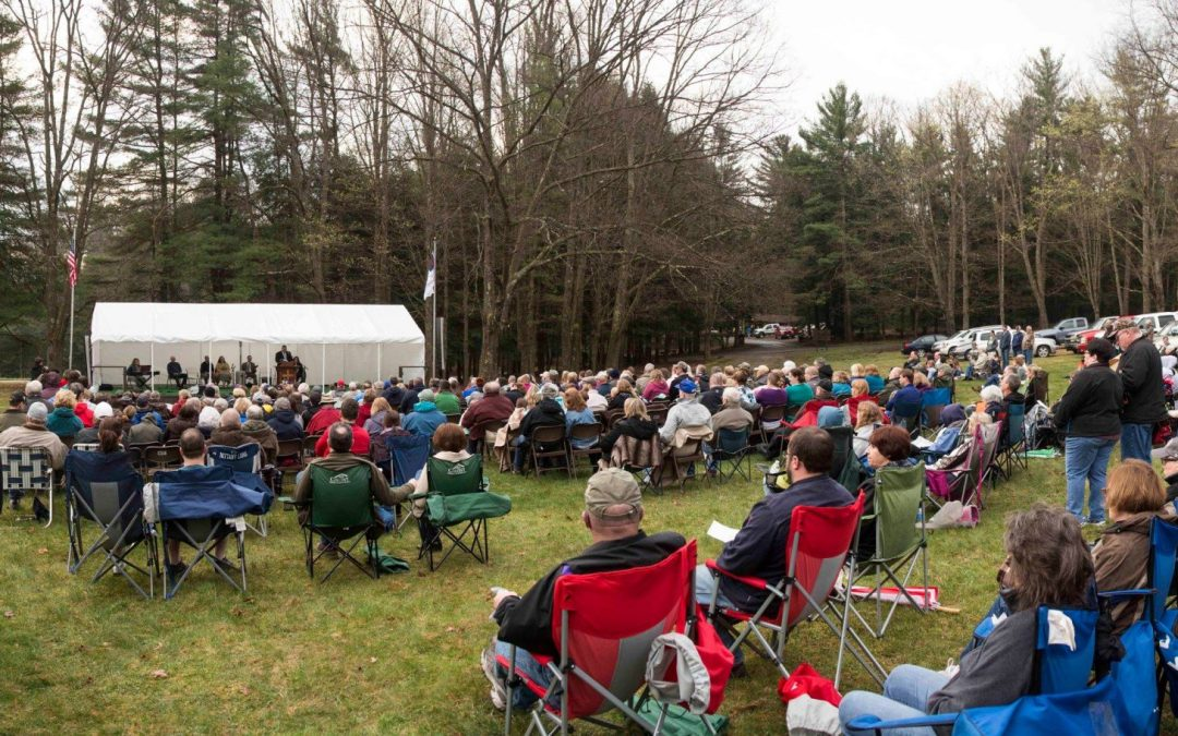 Sunrise Service in Cook Forest