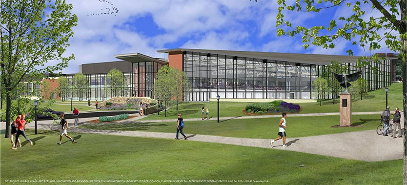 Clarion University's Tippin Gymnasium Renovation Almost Complete