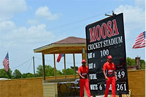 Moosa Stadium in Pearland is the only privately owned cricket stadium in the United States