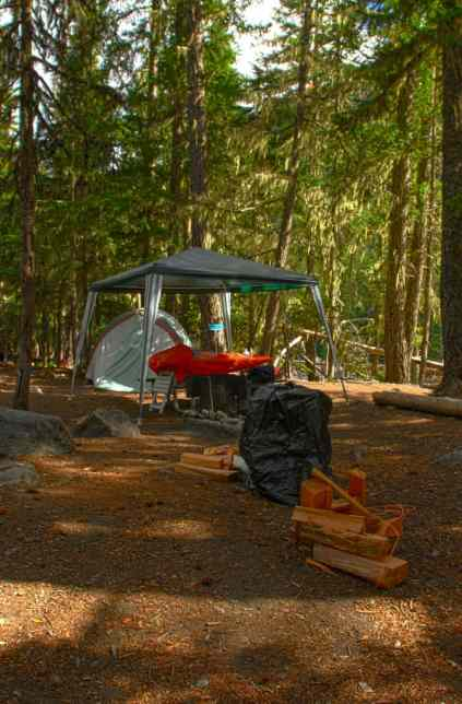 Tent Camping at White River Campground