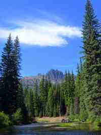 A view of Fifes Peaks from the trail