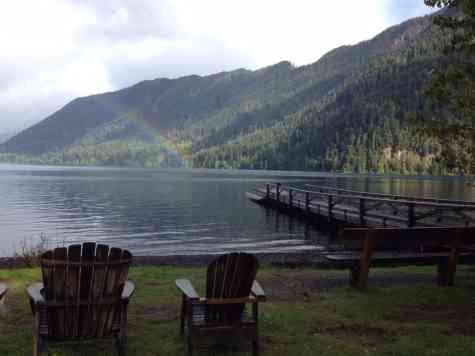 On the shores of Lake Crescent