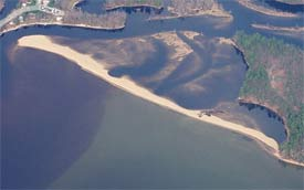 Songo River Beach Sebago Lake