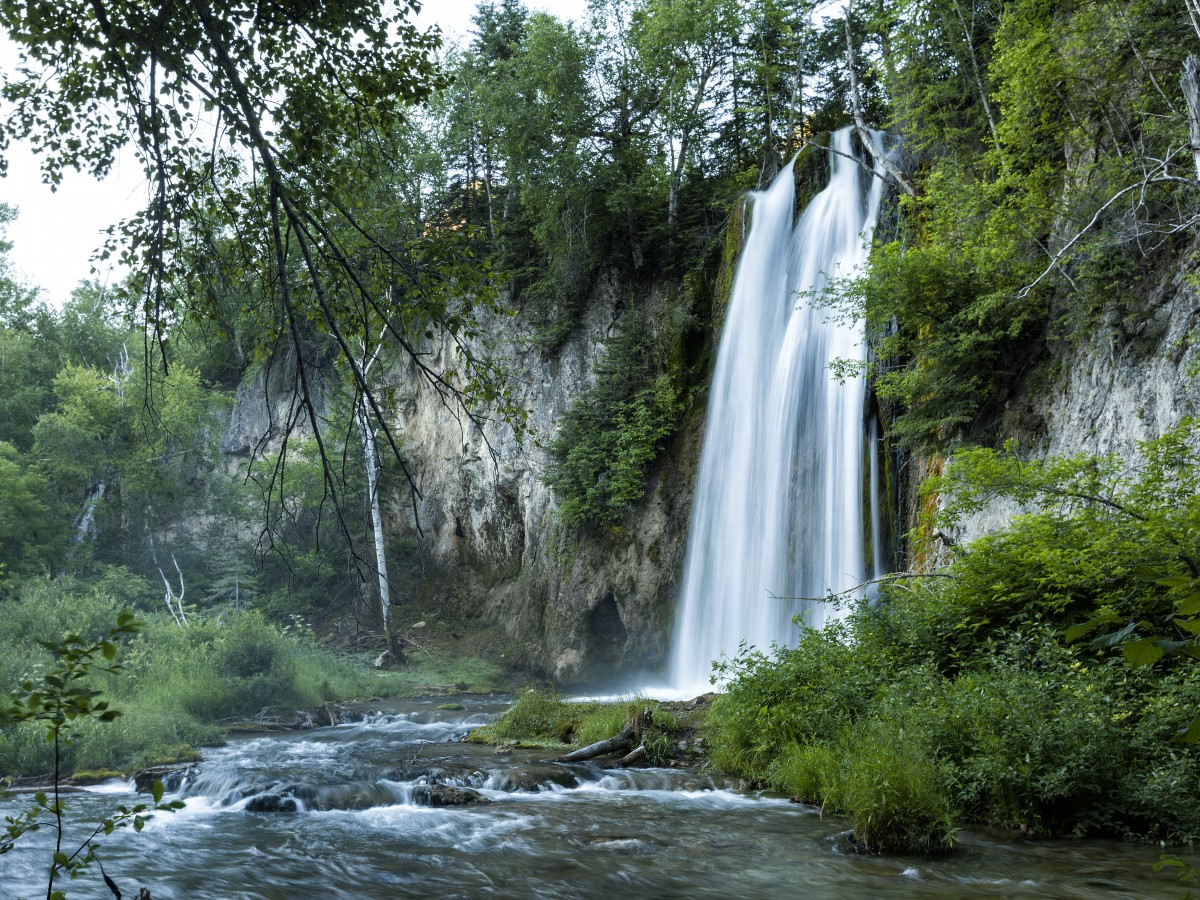 Spearfish Falls In Spearfish Sd