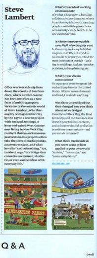 Steve Lambert in Dwell Magazine