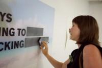 Britta erases and prepares