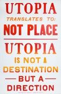 Utopia Letterpress Poster by Steve Lambert