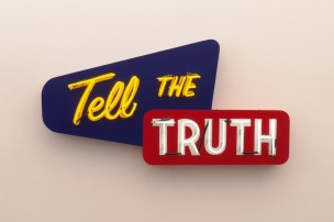 Tell the Truth - Steve Lambert neon sign
