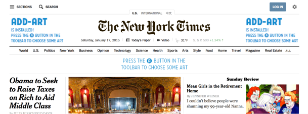 Add-Art on The New York Times