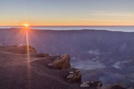 Sunrise over the Mount Tambora crater