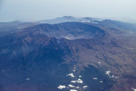 Aerial view of Mount Tambora