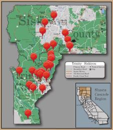 Trinity County Points of Interest Map