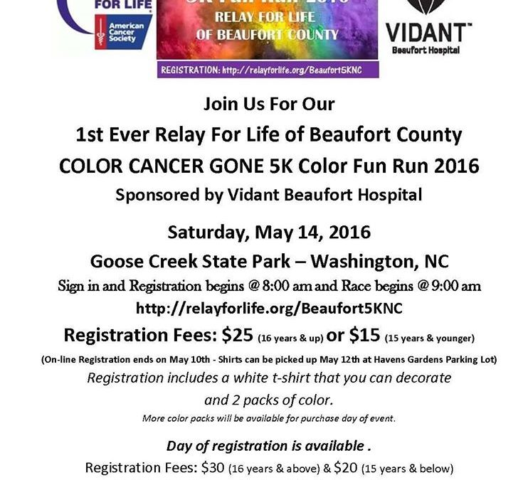 5K Relay for Life Color Cancer Gone Color Fun Run