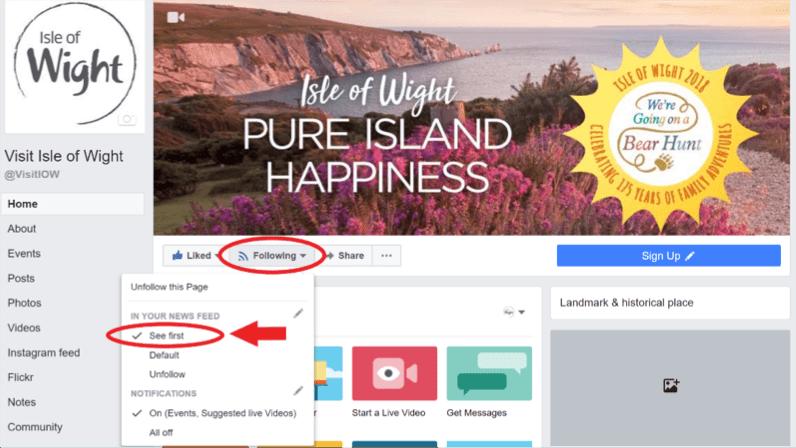 facebook visit of wight desktop