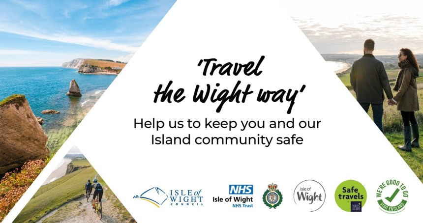 Social media image - Travel the Wight way