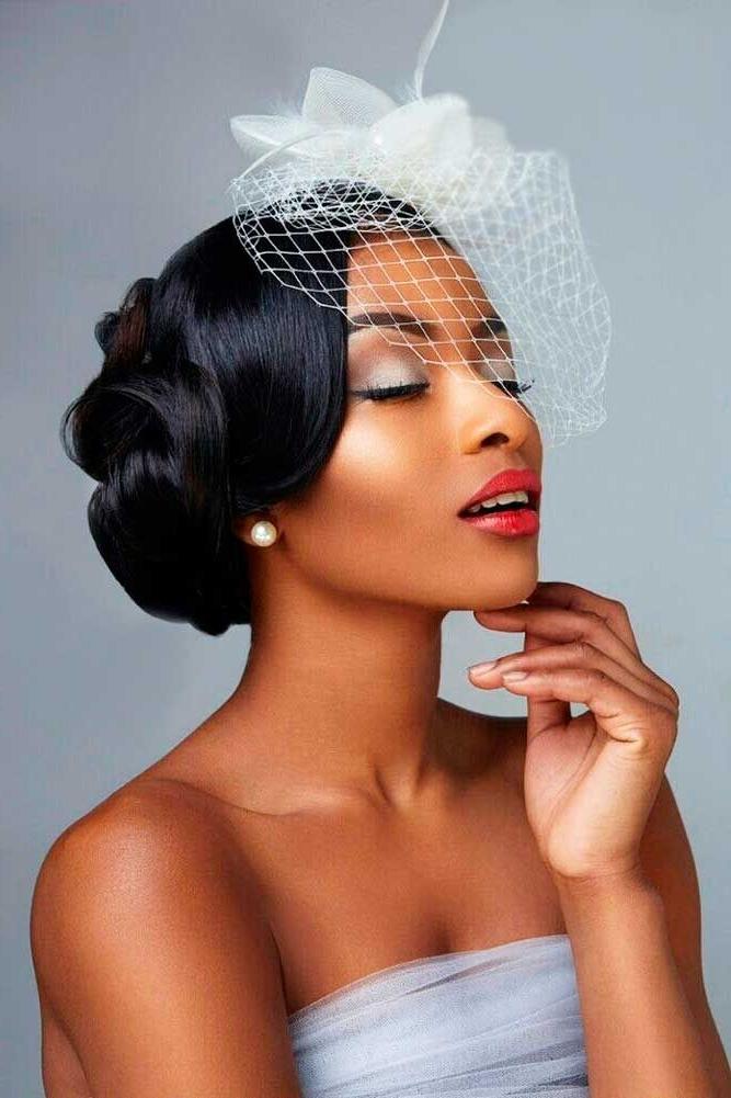 2018 Popular Updo Hairstyles For Black Hair Weddings