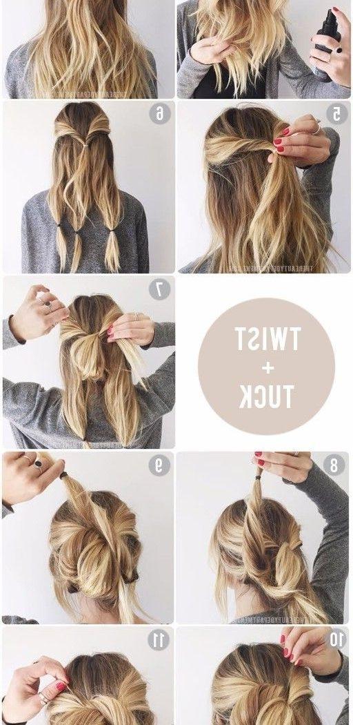 Best 15 Of Easy Updo Hairstyles For Medium Length Hair