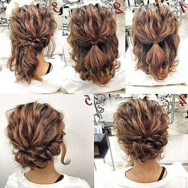 Easy Updos For Short Curly Hair Makeupsite