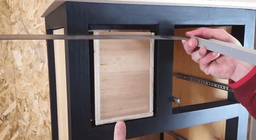 Mise en place du tiroir